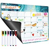 "Magnetic Calendar for Refrigerator - Dry Erase Fridge Magnetic Calendar with Blank Note Section, 16.9"" x 11.8…"