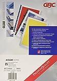 GBC Plats de Couverture HiClear, format A4 (180 microns, transparent, lot de 25)