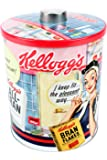 Retro Kellogg's Biscuit Barrel, Vintage Metal Storage Jar, 13.5cm Diameter
