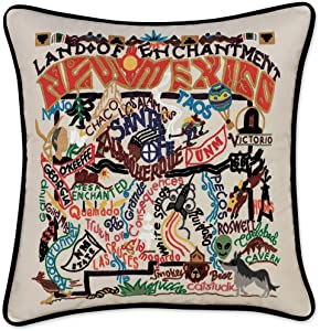 Catstudio New Mexico Embroidered Decorative Throw Pillow