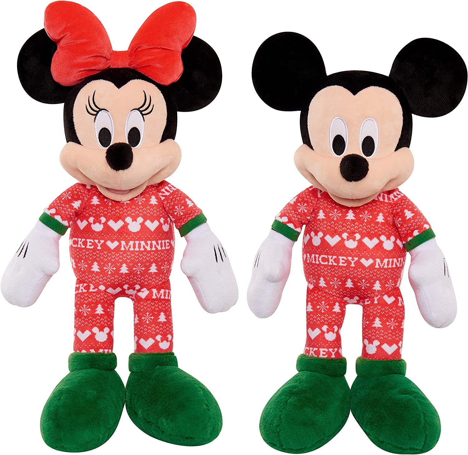 OFFICIAL MICKEY MOUSE 90TH ANNIVERSARY MICKEY AND MINNIE SET PAIR PLUSH SOFT TOY