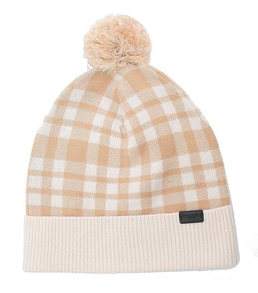 6b9fe23638a COACH Plain Pom Hat (Caramel) at Amazon Women s Clothing store