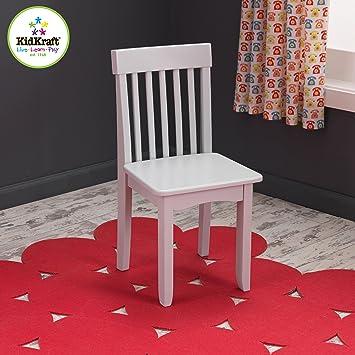 amazon com kidkraft avalon chair for children grey fog toys games