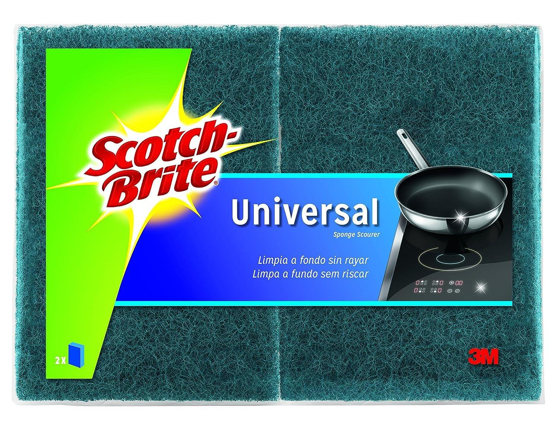 Scotch-Brite Estropajo Laminado Universal, Azul-No Raya, 2 Unidades