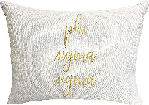 Phi Sigma Sigma Sorority Throw Pillow