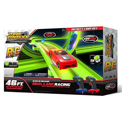 Max Traxxx R/C Award Winning High Speed Remote Control Infinity Loop Track Set with Two Cars for Dual Racing: Toys & Games