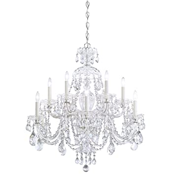 schonbek 360140h swarovski lighting sterling chandelier silver - Schonbek