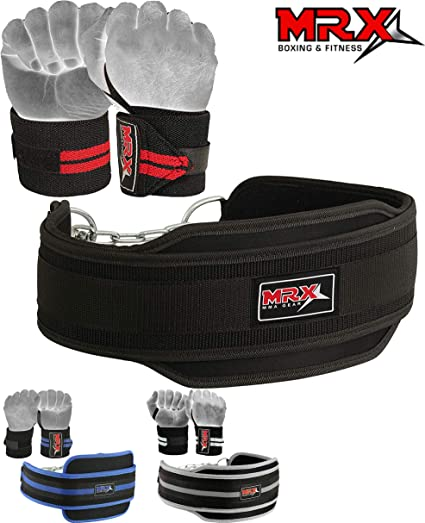 MRX DIPPING BELT Power Weight Lifting Dip Chain Exercise Gym Training Belts