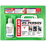 Rapid Care First Aid 661755 16 oz Eye Wash Station with First Aid Kit (166 Piece for 25 Person), OSHA/ANSI & FDA…