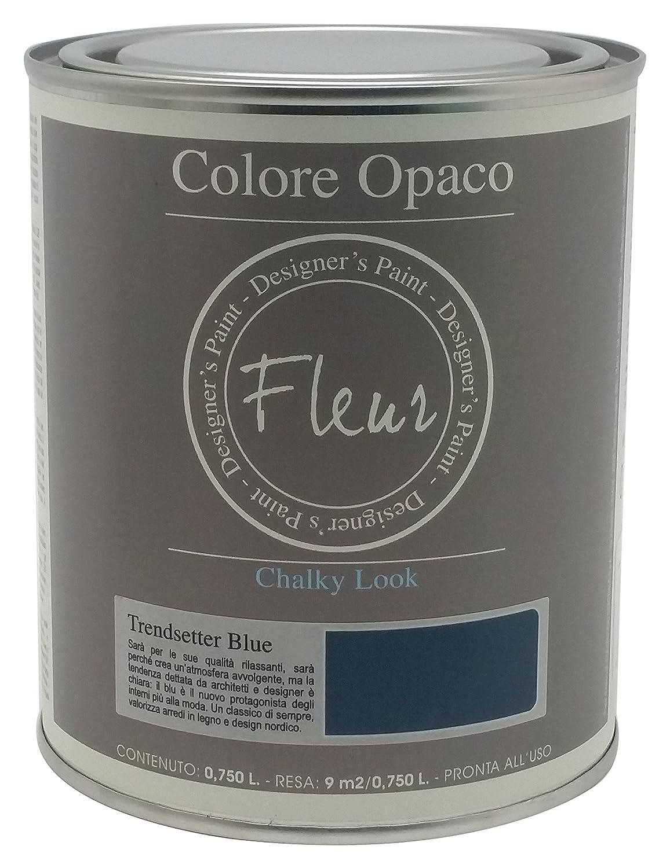 Fleur Paint 13412 - Pintura mineral (base agua, 750 ml) color trendsetter blue Expresiones Decorativas Nipa