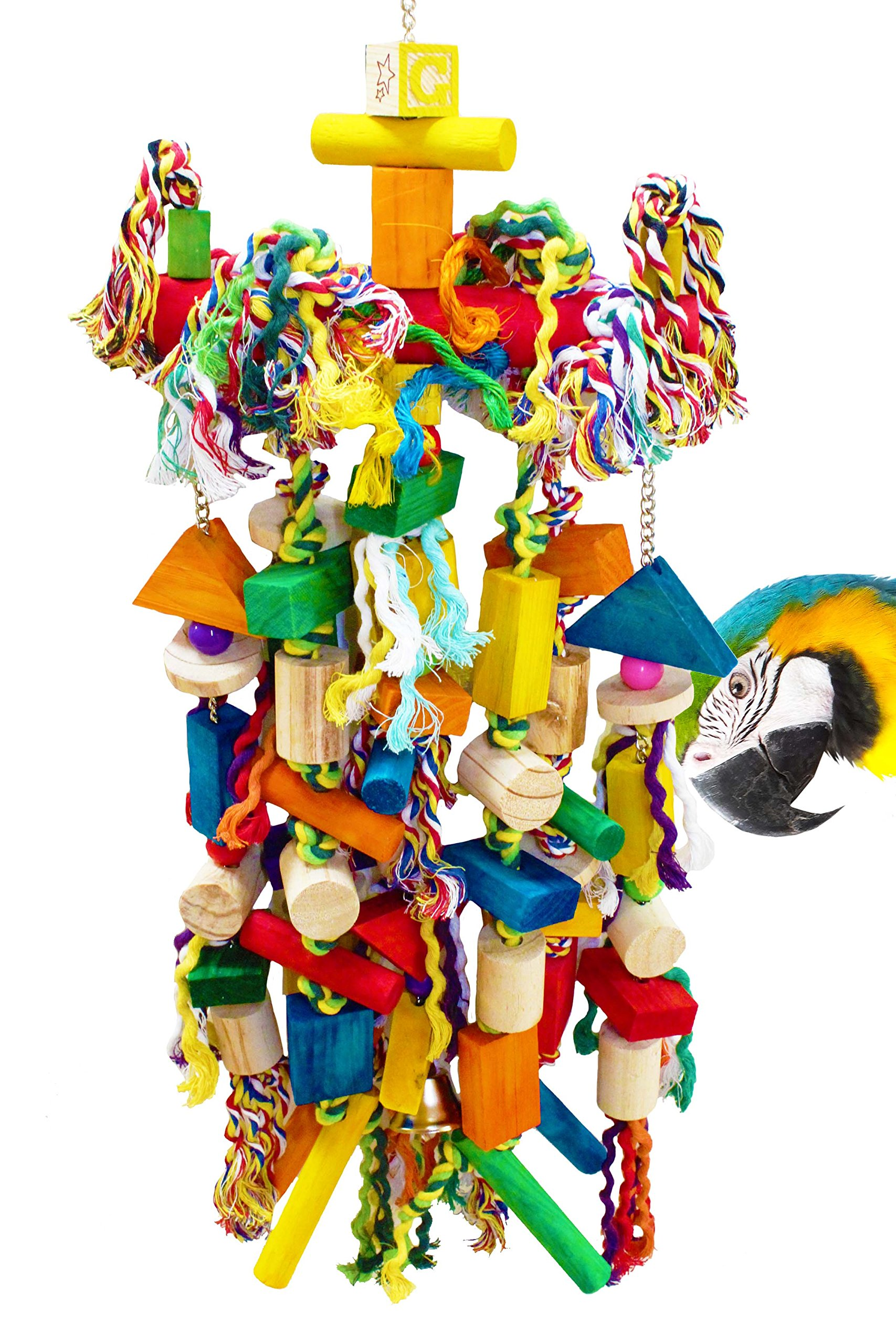 Bonka Bird Toys 1093 Huge Raggedy Cage Cages Toy Chewy Amazon Macaw Cockatoo by Bonka Bird Toys