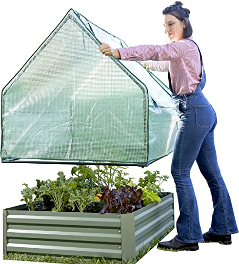 Outdoor Raised Bed Planter Pot Garden Galvanised Steel Vegetable Flower Herb Box