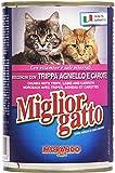 migliorgatto–Aliment Complet pour Chats, Bocconi avec Trippa, Agneau et Carottes–24pièces de 405g [9720G]
