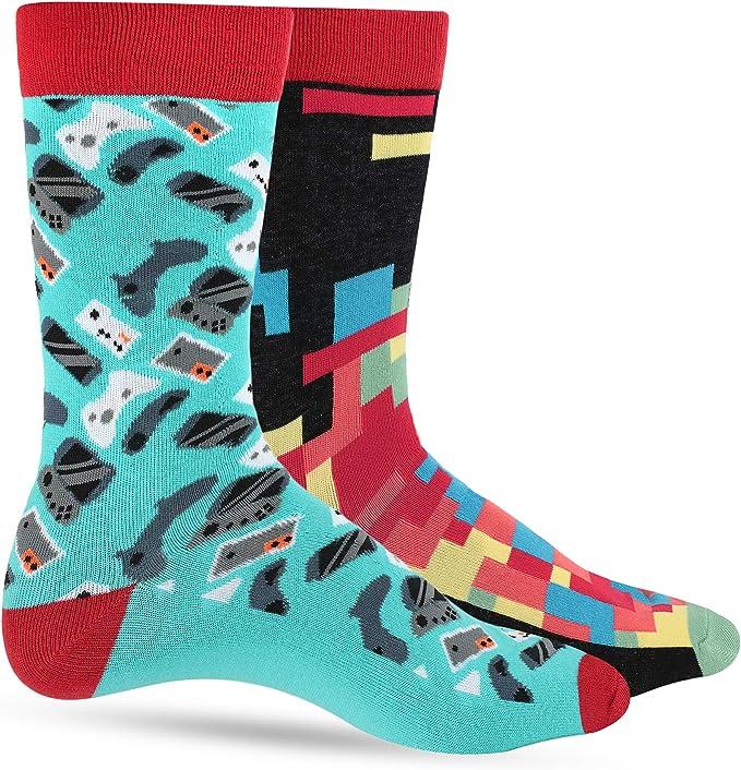 Calcetines divertidos para hombre diseño divertido y divertido regalo para papá hijo marido transpirable 1 o 2 unidades