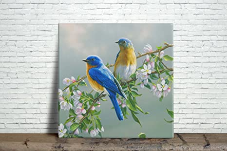 Amazon Com Bird Painting Design Decorative Ceramic Wall Tile 6 X 6 Inches Reproduction Home Kitchen
