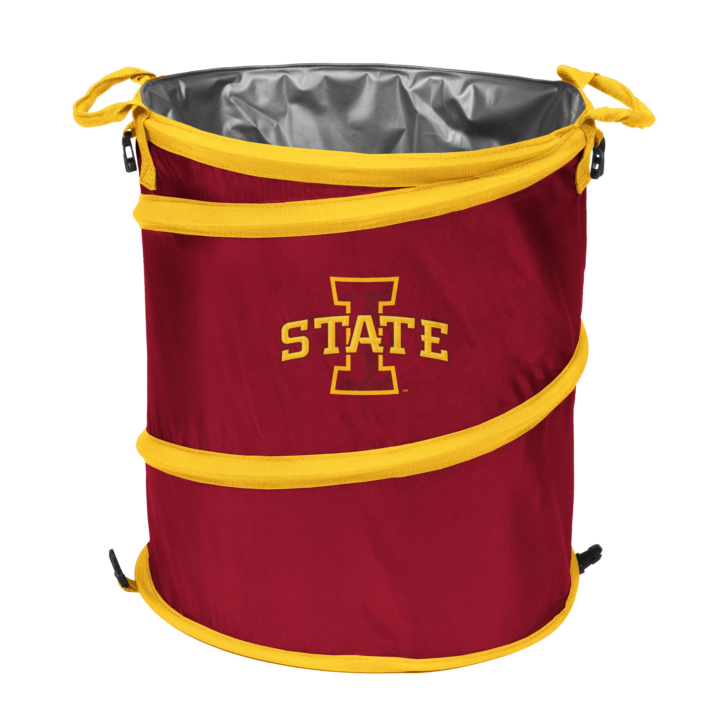 NCAA Iowa State Cyclones Adult Collapsible 3-in-1 Trash Can, Cardinal