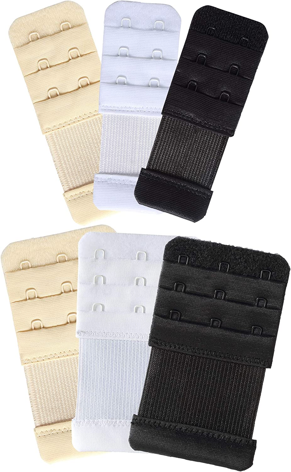 Details about  /Women/'s Bra Extenders 3 Hook Elastic Stretchy Bra Extension Strap Pack of 3