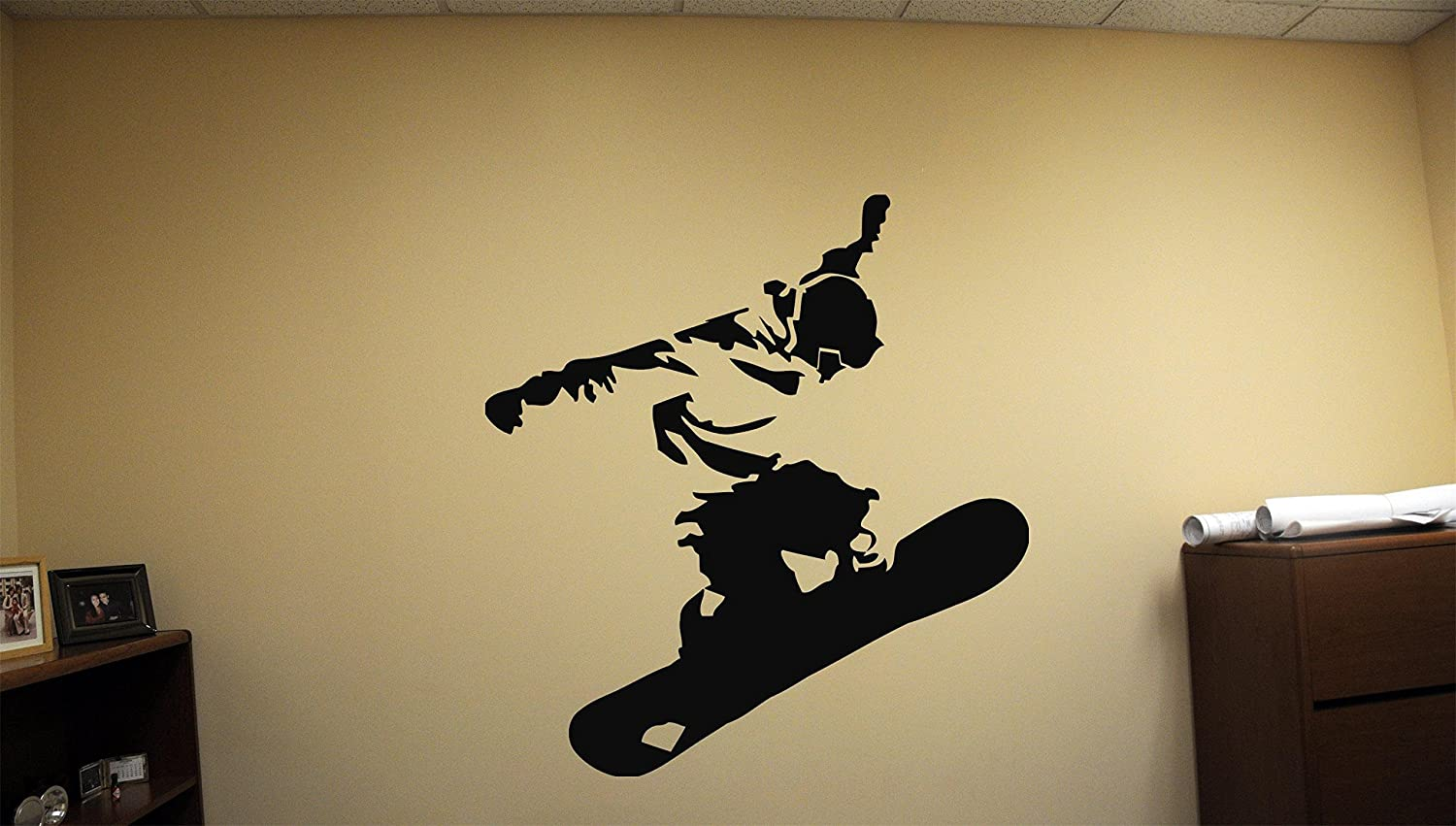 Amazon.com: Decor Snow Wall Skiing Sports Snowboarding Stickers ...