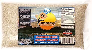 Yummmy Jasmine Rice 4 Lb, Kosher Certified, From Thailand, Scented Aromatic Rice long