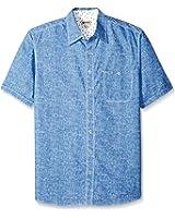 Haggar Men's Big and Tall Short Sleeve Portifino Cotton Shirt