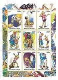 Klassische Pinocchio Briefmarken für Sammler - 9 postfrische Briefmarken - 1998 / Niger / 200F
