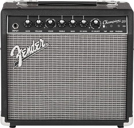 Fender Champion 20 · Amplificador guitarra eléctrica: Amazon.es ...