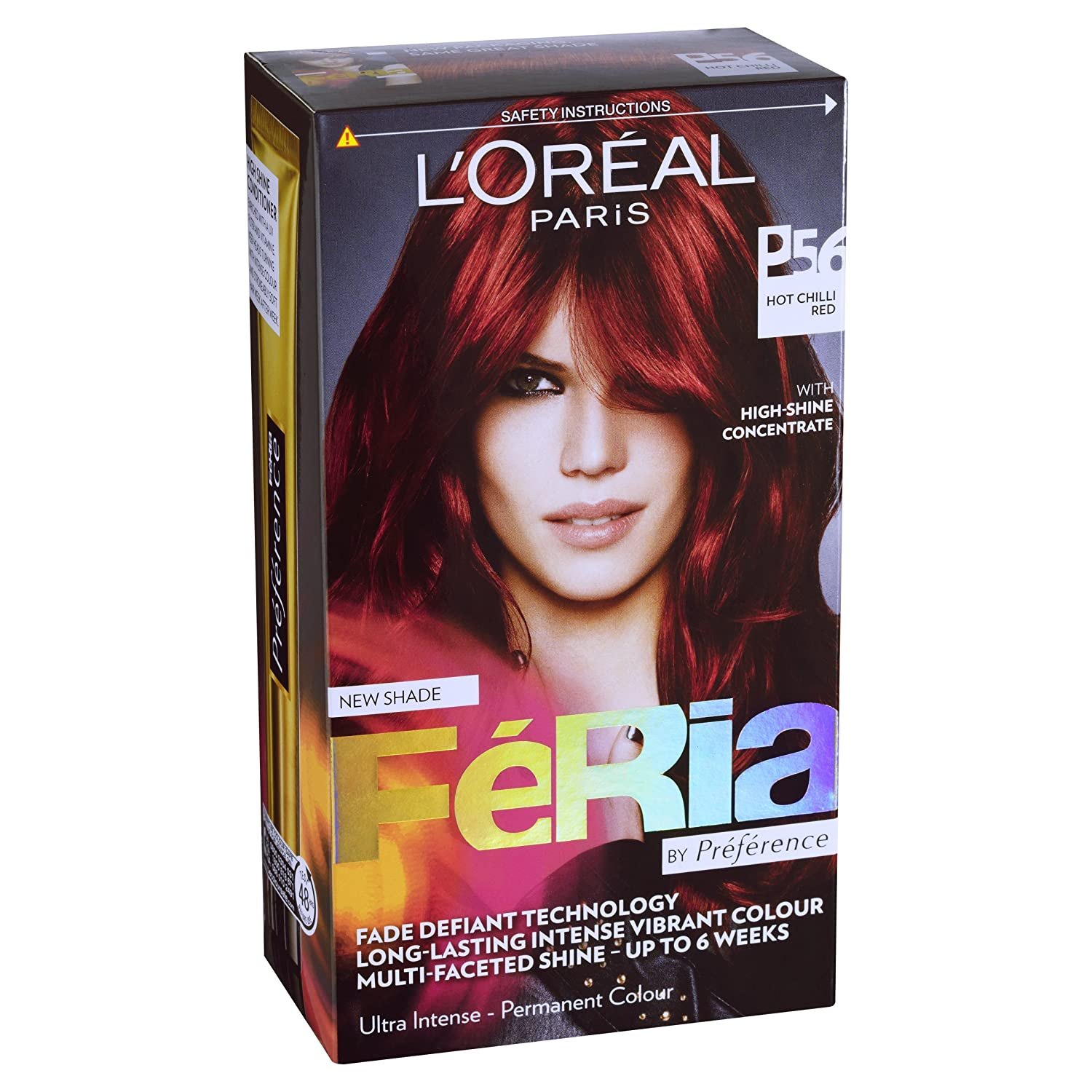 Buy loreal feria ultra lighting permanent hair colors p56 hot buy loreal feria ultra lighting permanent hair colors p56 hot chilli red online at low prices in india amazon nvjuhfo Images