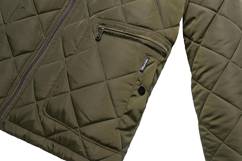 Wantdo Homme Parka d'hiver Veste Décontractée en Coton Vert Militaire