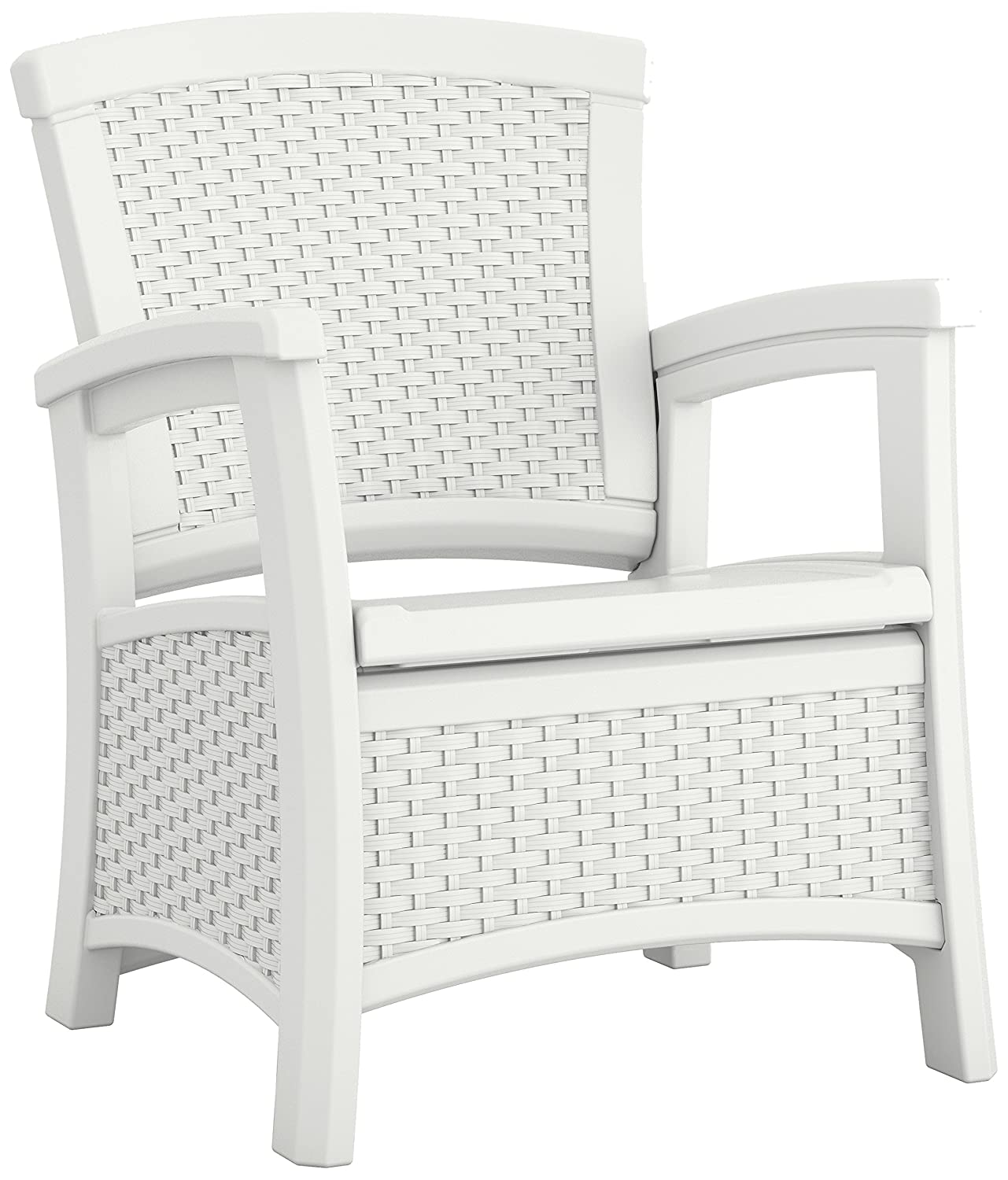 Amazon Suncast ELEMENTS Club Chair with Storage White