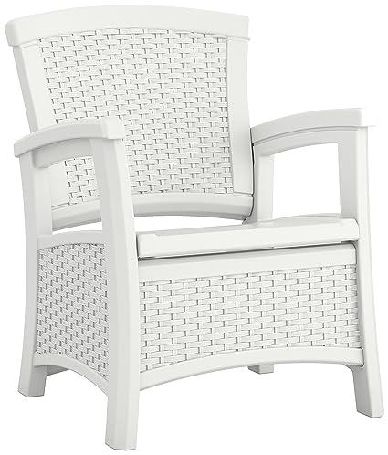 amazon com suncast elements club chair with storage white