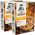 2-Pack Quaker Simply Granola Oats Breakfast Cereal, Honey & Almonds (28 Oz Box)