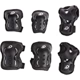 Rollerblade Bladegear XT Junior 3 Pack Protective Gear, Knee Pads, Elbow Pads and Wrist Guards, Multi Sport Protection,Youth, Black