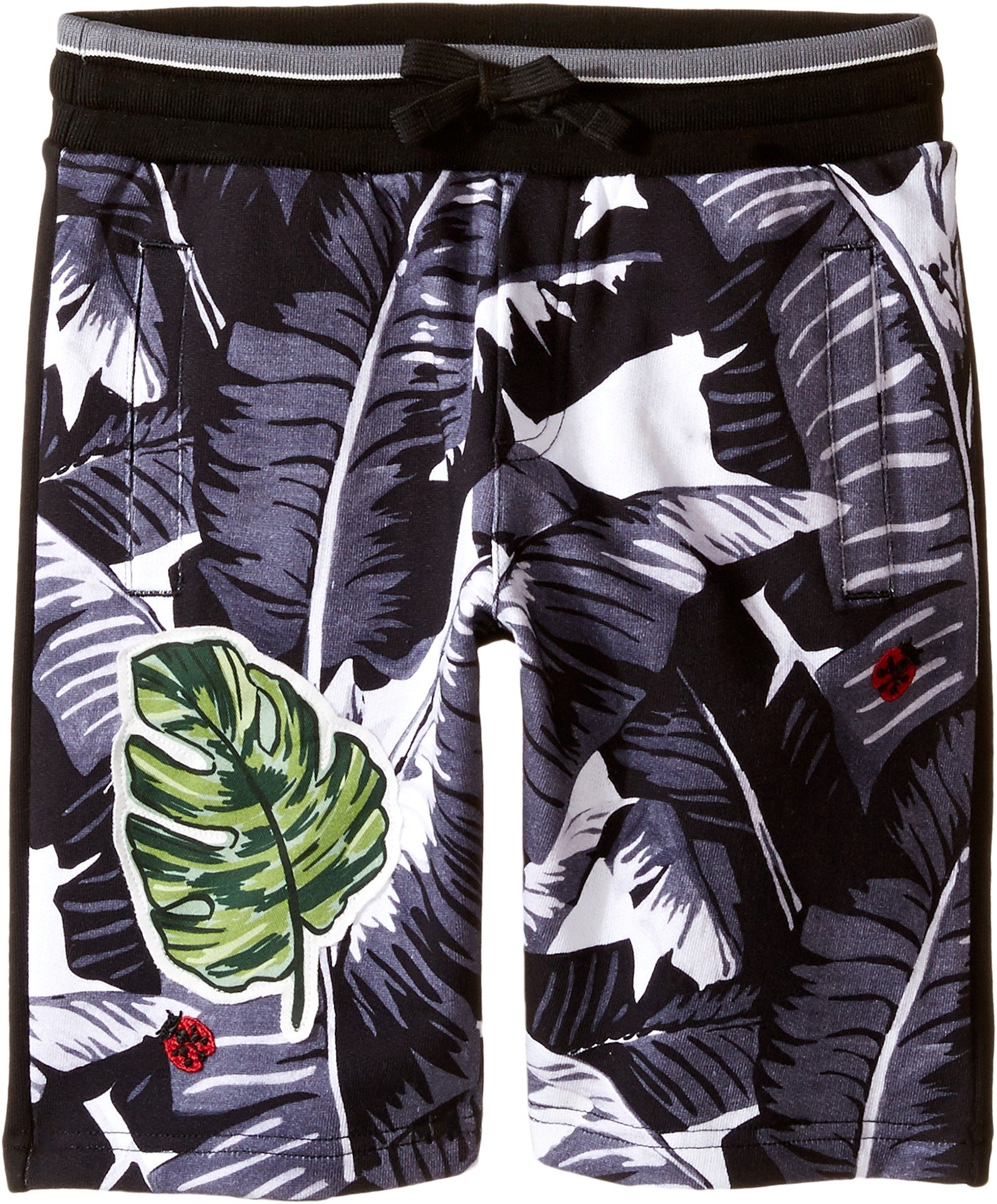 Dolce & Gabbana Kids Baby Boy's Banana Leaf Shorts (Toddler/Little Kids) Black Shorts by Dolce & Gabbana