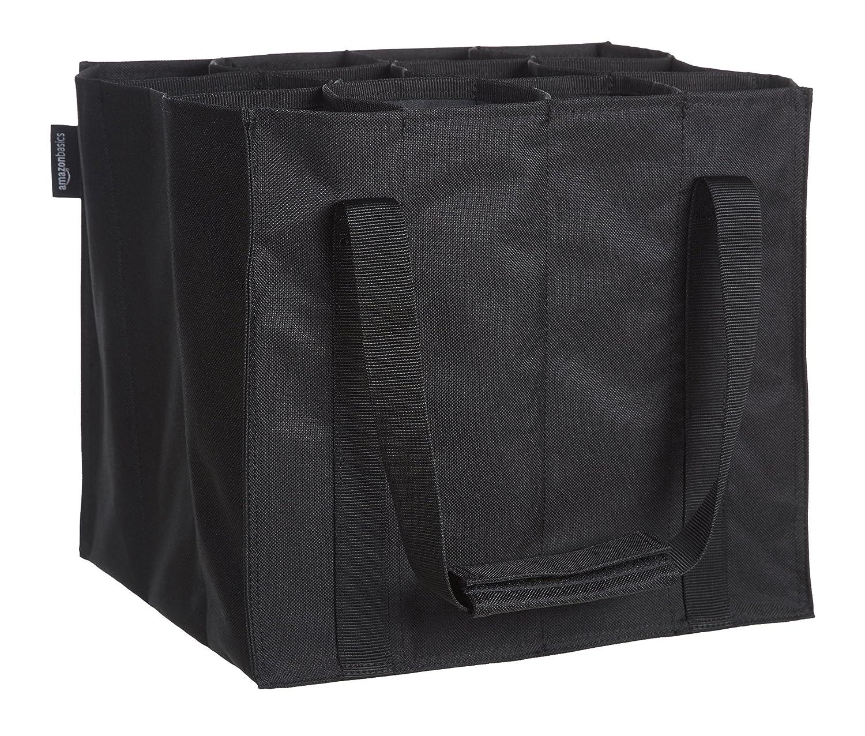 9 compartimentos botellas de 0,75 l Basics Bolsa para botellas Negro