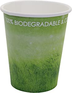 Special Green Grass Design, Paper Hot Cup,Eco-friendly,100% Blodegradable&Compostable (Green Grass, 8 0Z 50 count)