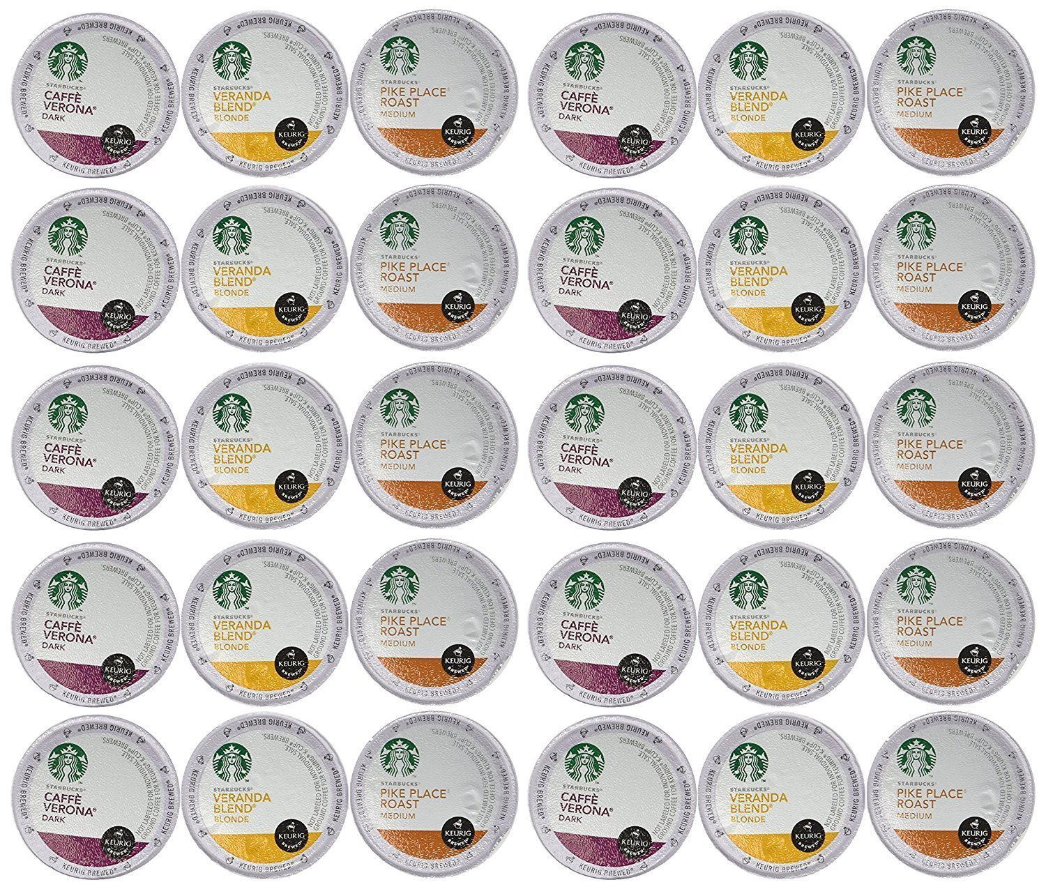 Starbucks Coffee K-Cups for Keurig Brewer 30 Piece Variety Pack by Starbucks (Image #1)