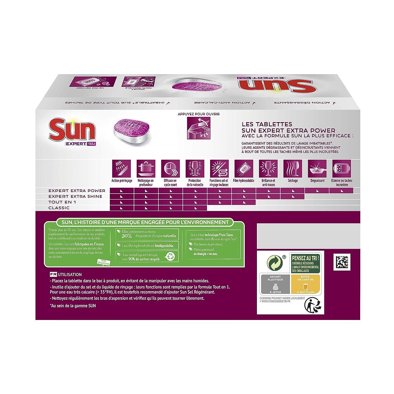 Sun Tablets lavavajilla todo en 1 Expert Extra Power 20 lavados ...