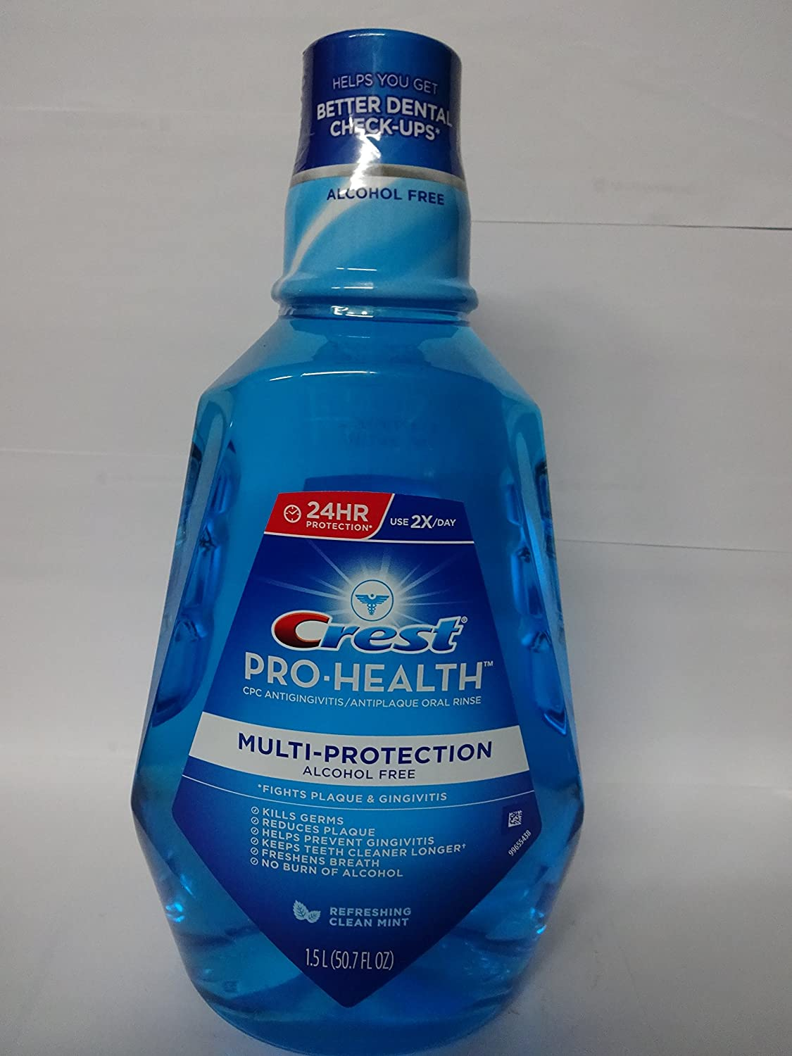 Crest Pro-Health Multiprotection Rinse, Clean Mint - 50 oz - 2 pk