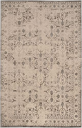 Safavieh Brilliance Collection BRL502G Cream and Grey Area Rug 9 x 12