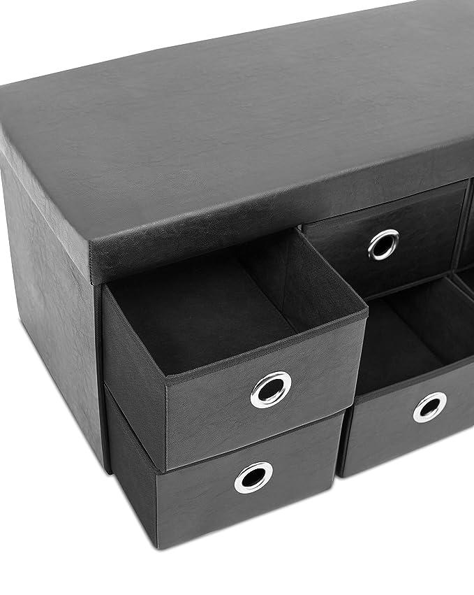Amazon.com: birdrock Home Storage Banco con cajones ...