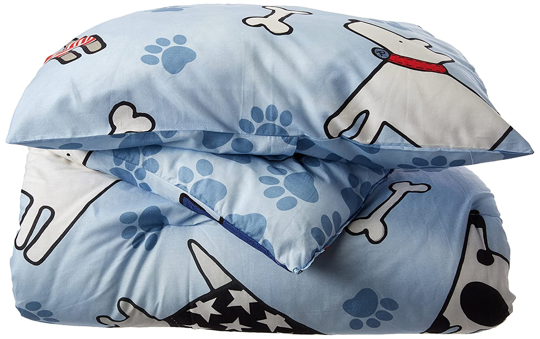 Dream Factory Dog Dreams Comforter Set, Twin, Blue