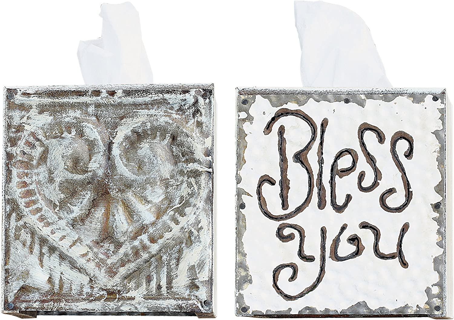 """Creative Co-Op """"Bless You"""" Tissue Box Cover"""