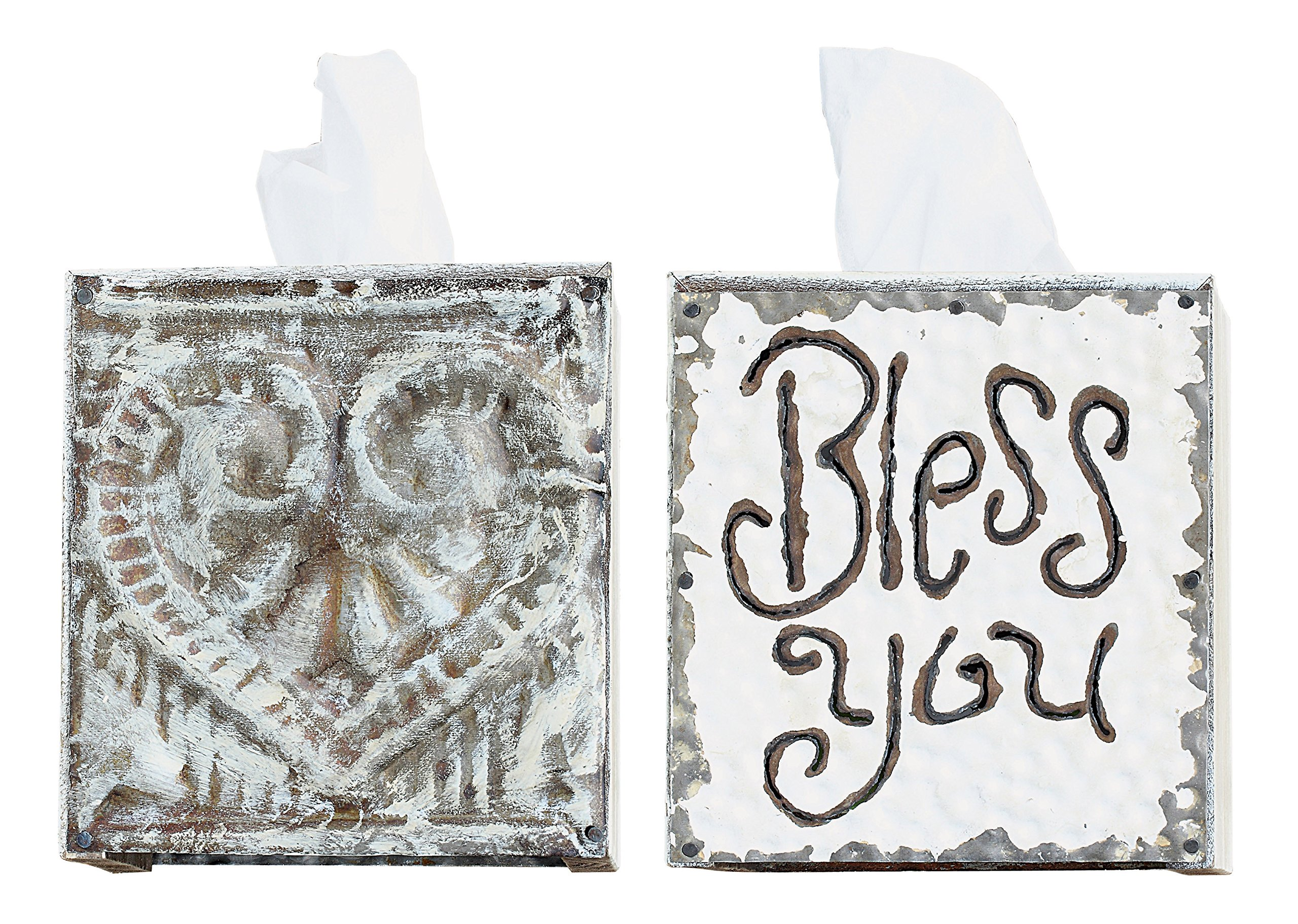 Creative Co-Op ''Bless You'' Tissue Box Cover