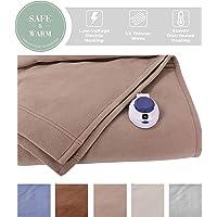 Soft Heat® Luxury Micro-Fleece Electric Heated Warming Blanket