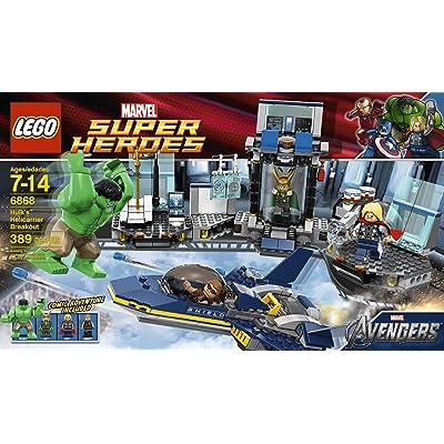 LEGO Hulk Helicarrier Breakout 6868: Toys & Games