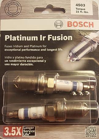 Bosch (4503) fgr7dqi Platinum infrarrojos Fusion Bujía, (Pack de 2): Amazon.es: Jardín