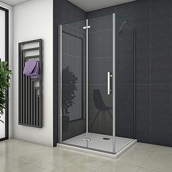 110 x 70 x 195 cm de ducha mampara de ducha Puerta de ducha de cristal: Amazon.es: Bricolaje y herramientas