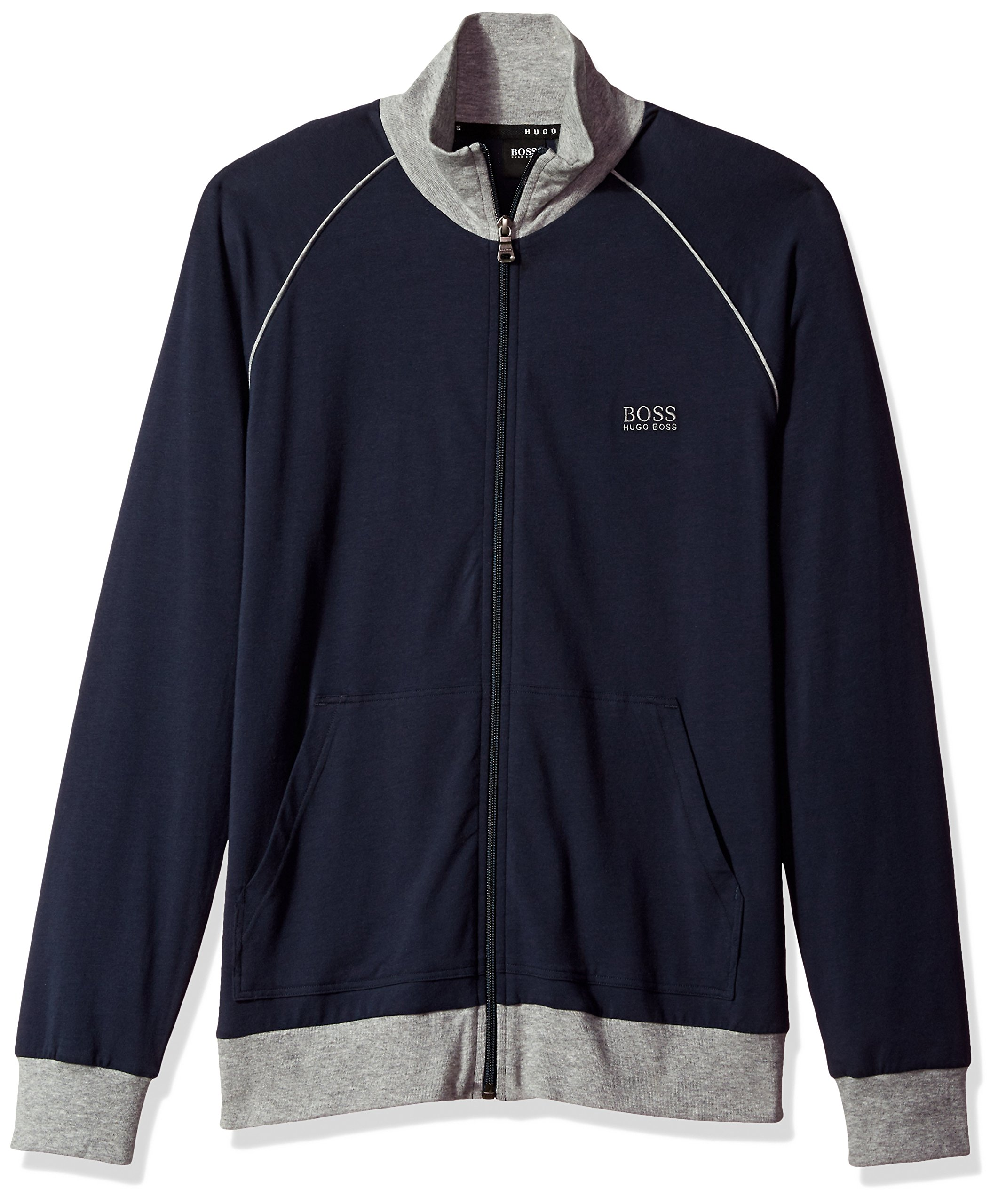 Hugo Boss Men's Jacket Zip, Dark Blue, L
