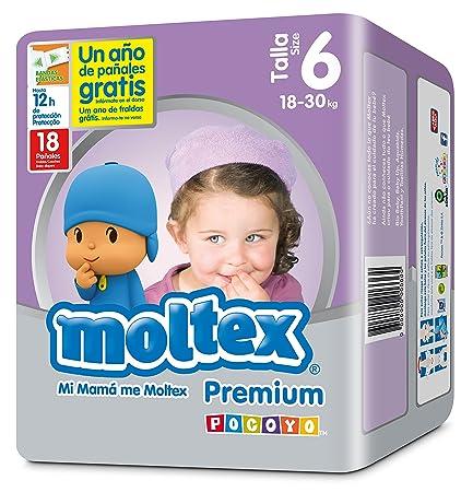 Moltex Premium Bolsa de Pañales Desechables - 18 Pañales