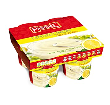 Pascual Yogur Sabor Limón - Paquete de 4 x 125 gr - Total: 500 gr: Amazon.es: Amazon Pantry